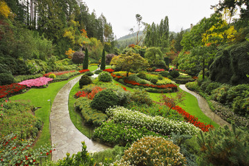 Butchard - garden on island Vancouver in Canada