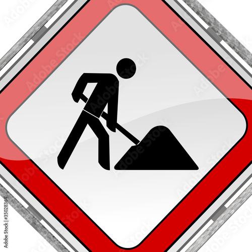 Baustelle schild clipart  Baustellenschild Zu Ende