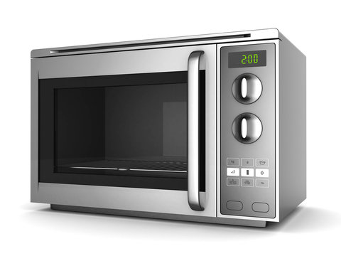 Image of the microwave oven on a white background