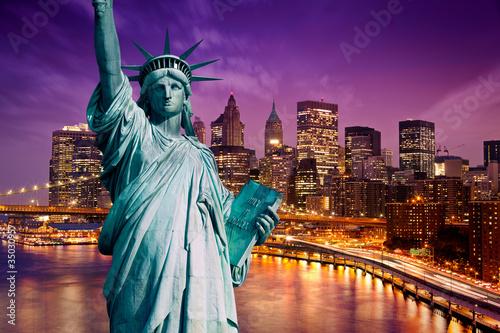 Wall mural New York Manhattan statue de la Liberté