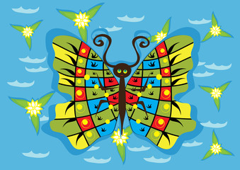 butterfly on isolated background
