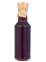 Butelka z sokiem malinowym