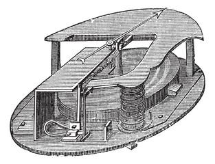 Aneroid Barometer vintage engraving