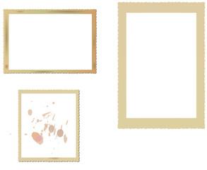 vintage photo frame set, vector