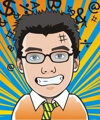 cartoon portrait a surprise boy