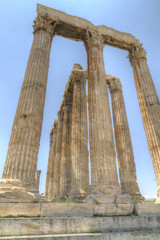 Fototapete - ancient Temple of Olympian Zeus in Athens Greece