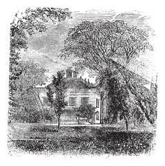 Longfellow ,House, Massachusetts,  Cambridge , America, vintage