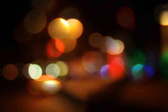 night city bokeh lights background