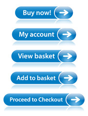 SHOPPING Buttons (shop online buy now add cart basket)