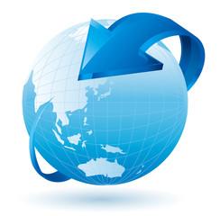 地球 リサイクル 矢印