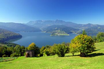 mountain and lake in Romania