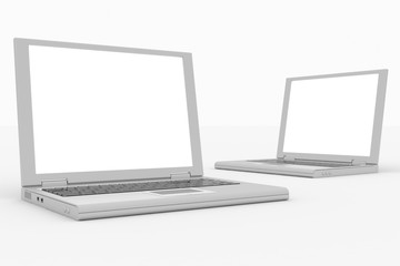 Laptops computer isolated on white.