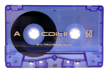 classic audio tape isolated