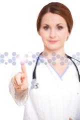 Ärztin mit Touchscreen