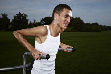 Exercise man outdoor