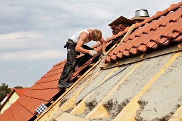 carpenters constructing a dormer
