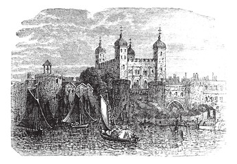 Tower of London or Her Majesty's Royal Palace and Fortress in Lo