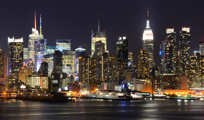Midtown Manhattan Skyline viewed from across the Hudson River