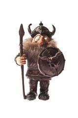 Miniature Viking isolated on white