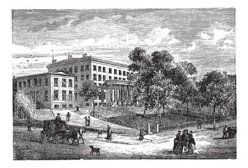 Columbia University in Manhattan, New York City, USA, vintage en