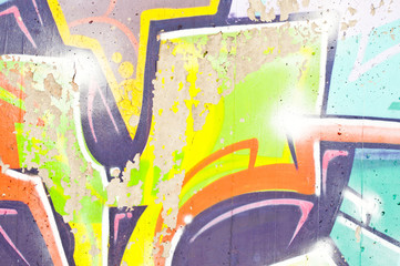 Urban graffiti close-up