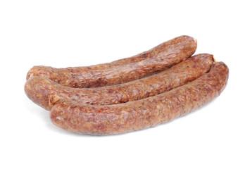 Sausage  isolation on  white  background