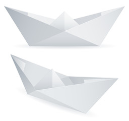 Paper ships.