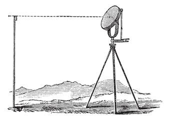 Heliograph vintage engraving