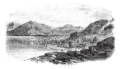 Smyrna in Turkey vintage engraving