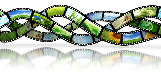 Film strips with images