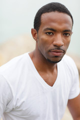 Portrait of an attractive young African American male