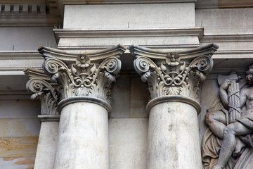 colum on a histroric building
