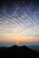 Wonderfull Sunset at Khaochangpuek, Kanchanaburi, Thailand