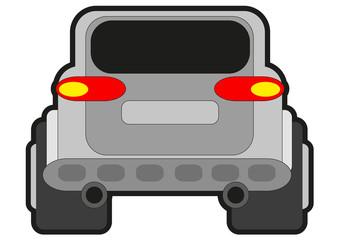 illustration of rally car
