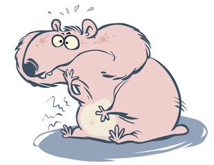 Cartoon Hamster with chubby cheeks.