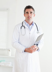 Doctor looking into the camera