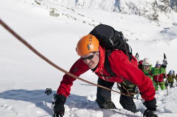 steiler Aufstieg zum Gipfel
