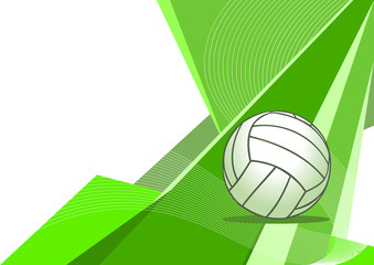 Volleyball , abstract design