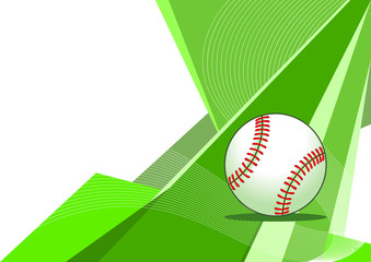 Baseball, abstract design