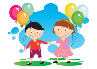 Children With A Balloon