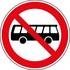 Fototapete - Verbotsschild Omnibus Bus Busse verboten Zeichen