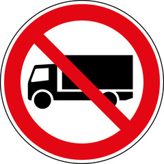 Fototapete - Verbotsschild LKW Lastkraftwagen verboten Zeichen