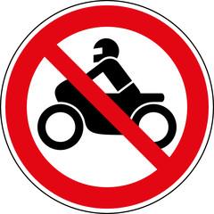 Motorrad Verbot