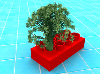 Tree in a cube