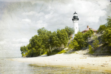 Old Picture (Effect) With Lighthouse