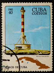 Postal stamp. Lighthouse, 1981