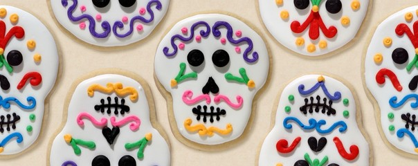 Day of the dead cookies wallpaper orderly