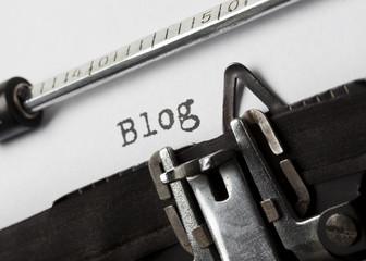 Blog mit Schreibmaschine geschrieben