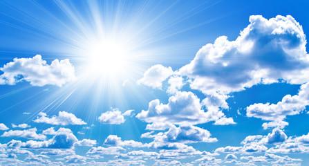 blue sky and a sun
