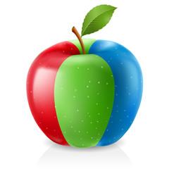 Delicious RGB apple